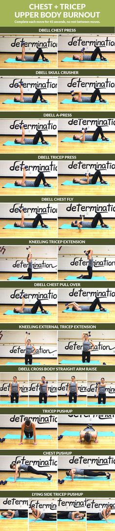 Strengthen your upper body with this toning chest and tricep workout!