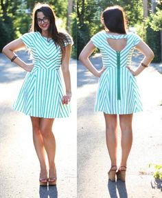 After Dinner Mint dress sewn by BurdaStyle member, Heatherlou