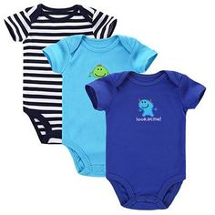 3-Pack Short Sleeve Bodysuits – BABY OBSESSIONS