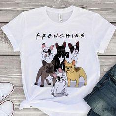2018 Fashion French Bulldog Printed T-Shirt women Dogs Animal T Shirt Summer High Quality Hipster Tee Tops Girls White Shirt, Shirts For Girls, White French Bulldogs, Funny French, French Bulldog Puppies, French Bulldog Clothes, French Bulldog Gifts, Cheap T Shirts, Cat Enclosure