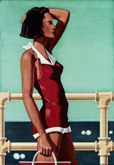 Kenton Nelson / Watercolors / A Pose