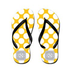 Personalize Flip Flops / Customize Design by MonogramCollection, $24.00
