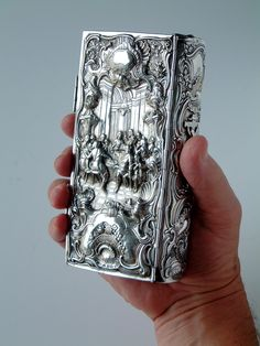 'The Last Supper' in a silver book-cover  (Augsburg) - 17/18th century
