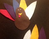 Check out our toddler busy bag selection for the very best in unique or custom, handmade pieces from our shops. 18 Month Old Activities, Toddler Busy Bags, Turkey Feathers, Thanksgiving Turkey, Felt, Business, Board, Crafts, Handmade