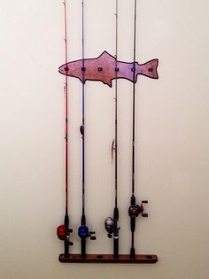 Handmade Fishing Rod Holder/Rack for 6 Rods by SilverFoxWoodWorks