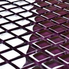 Damson Purple Glass Mosaic Tiles | Purple Mosaics | Mosaic Village