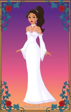 Wedding Dress (Azalea's Dress up Dolls - Heroine Fan-Art Creator) Azalea Dress Up, Dress Up Dolls, Head Shapes, Up Game, Blue Dresses, The Creator, Ball Gowns, Fan Art, Women's Fashion