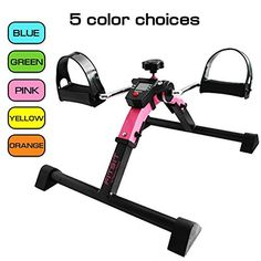 Platinum Fitness PFP2200 Fit Sit Deluxe Folding Pedal Exerciser Leg Machine with Electronic Display, Pink * Read more  at the image link.
