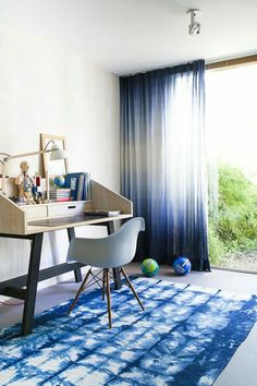 For a canopy with a little flourishes, try ombre-dyed curtains. | 23 Easy Ways To Turn Your Room Into A Cosmic Getaway