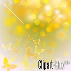 CLIPART BUTTERLY BOKEH BACKGROUND