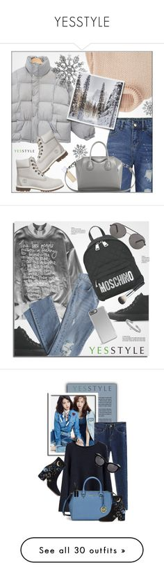 """YESSTYLE"" by monmondefou ❤ liked on Polyvore featuring Winter, yesstyle, Flore, MANGO, Timberland, Givenchy, Converse, Seafolly, Cherrykoko and Moschino"