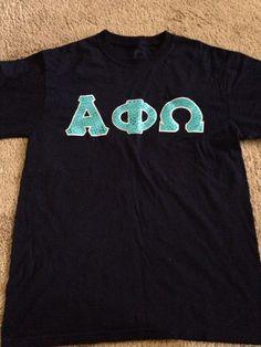 Alpha PHI Omega Stitched Letter Shirt Size Medium | eBay Alpha Phi Omega, Fraternity, Sorority, Lettering, Stitch, Medium, Mens Tops, Diy, Shirts
