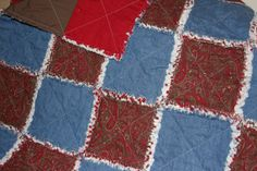 Paisley and Denim Rag quilt by LonestarLinens on Etsy, $115.00