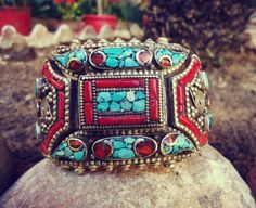 Antique Tibetan Tribal Amber Coral Turquoise and by ZamarutJewel, $235.00