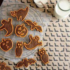 Chocolate Halloween Cutout Cookies Recipe | CookingLight.com