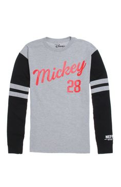 Neff comes with a cool men's t-shirt found at PacSun. The Player Long Sleeve T-Shirt for men has a red script and number on the front with a Neff logo on the striped sleeve.	Two tone tee with Neff graphic on front	Crew neck	Long sleeves	Regular fit	Machine washable	90% cotton, 10% polyester	Imported