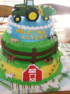 John Deere Baby Shower By Nhopson On CakeCentral.com