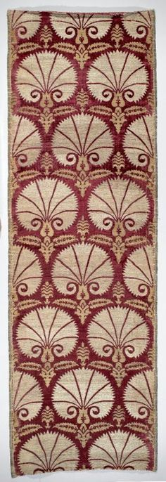 Textile Panel with Carnation Pattern, 17th century. Silk and metal-wrapped silk, velvet Brooklyn Museum, Gift of Frank L. Babbott, 22.42. Creative Commons-BY-NC (Photo: Brooklyn Museum, 22.42_PS2.jpg)