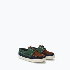 ZARA - KIDS - COMBINED LEATHER DOCKSIDES- $49.90