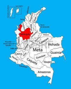 Mapa vectorial de la región de Antioquia, Colombia mapa vectorial editable. Divisiones administrativas de Colombia mapa editable.