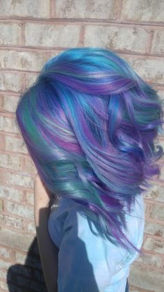57 ideas for hair mermaid short pixie cuts Low Lights Hair, Unicorn Hair, Dream Hair, Cool Hair Color, Purple Hair, Hair Looks, Pretty Hairstyles, Hair Inspiration, Pixie Cuts