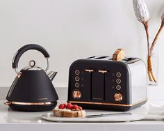 The Accents Rose Gold collection combines the iconic kettle and toaster design y. The Accents Rose Gold collection combines the iconic kettle and toaster design you know and love with beautiful rose gold trims and details. Source by. Decoration Bedroom, Decoration Design, Home Decoration, Art Decor, Gold Home Decor, Home Decor Kitchen, Kitchen Furniture, Kitchen Ideas, Kitchen Interior