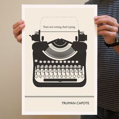 Typewriter (13x19) by Evan Robertson (Obvious State; Lovely Literary Giclée Prints)