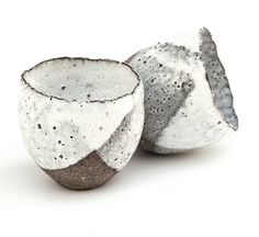 Sake Cups from the Rustic Ceramic Collection by nomliving.com