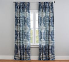 Shibori Diamond Curtain | Pottery Barn