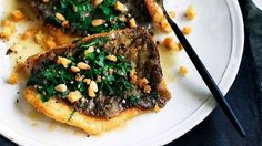 Pan-fried John Dory with Parsley, Garlic and Pine Nuts. A Kai Gourmet favorite! Any delicate, white-fleshed fish is suitable for this simple, Autumn dish. Fall Dishes, Dinner Dishes, Fish Recipes, Seafood Recipes, Chef Recipes, Seafood Dishes, Dinner Recipes, Dory Fish Recipe, John Dory Fish