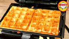 Waffelteig Basisrezept - Rezept von Nobbi´s Kochstunde Nutella, Dessert, Waffles, Super, Breakfast, Youtube, Food, Waffle Iron, Food Portions