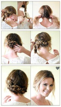 Wedding Hairstyles For Short Hair Braid