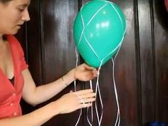 How To Make A Hot Air Balloon Centerpiece with Ribbon or String Net