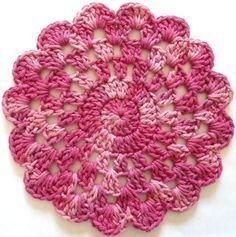 Rose In Bloom Crochet Dishcloth – Maggie Weldon Maggies Crochet