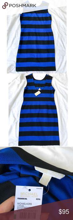 Michael Kors Midi Striped Dress Michael Kors striped dress. Very soft and cute everyday dress.        BRAND NEW WITH TAG! Michael Kors Dresses Midi