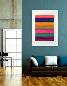 """""""Desert Sunset"""", Exclusive Edition Fine Art Print by Rebecca Allen - From $35.00 - Curioos"""