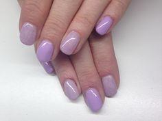 Purple angora nails