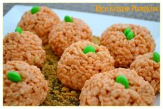 Rice Krispie Pumpkins ~ So easy, and you'll look like you've got your shizzle together. ;)