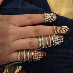 Diamonds save the day for a chipped #manicure @yepremjewellery @djulajewelry #nailrings #nails #jewelry #cover #djula #yeprem #diamonds #fragmentsnyc #love #lovegold #musthave #nailpolish #thursday #rings
