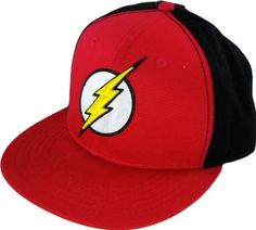 The Flash DC Comics Logo Flat Bill Hat Cap - http://forthatgeek.com/clothing-accessories/the-flash-dc-comics-logo-flat-bill-hat-cap/