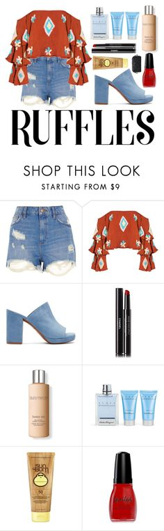 """Untitled #72"" by lailaniii ❤ liked on Polyvore featuring River Island, Mochi, Robert Clergerie, Chanel, Laura Mercier, Salvatore Ferragamo, Sun Bum, Wet n Wild and Marc Jacobs"