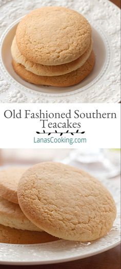 Teacakes are an old-fashioned southern cookie - not too sweet and utterly delicious. Evocative of the carefree youthful days of childhood. Mexican Food Recipes, Cookie Recipes, Dessert Recipes, Cookie Desserts, Cookie Jars, Shrimp Recipes, Salad Recipes, Old Fashioned Tea Cakes, Tea Cake Cookies