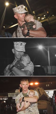 Father and son portrait - Travis' Marine Homecoming with his newborn son — Angela Piccinin Photography, Wilmington NC - www.angelapiccinin.com