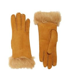 Brooks Brothers Shearling Gloves | womens shearling gloves | womens accessories