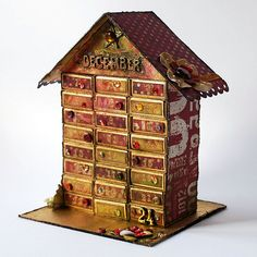 Advent - This is so fabulous! It's made from matchboxes! I am so going to try this at home!