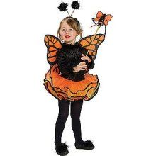 Toddler Orange Butterfly Costume
