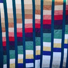 Rainbow quilt made by me.