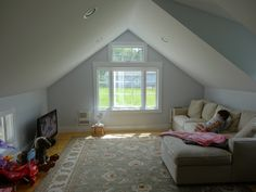 Upstairs - After  #attic #playroom