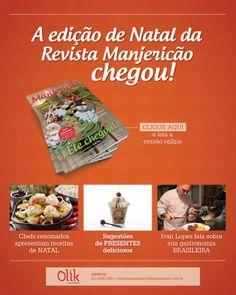 Designed by Lais Pancote :: E-MAIL MKT :: MANJERICÃO MAGAZINE #3 :: OLIK COMUNICAÇÃO :: december/2013