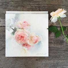 Sweet petal no.3 #watercolor #paint #painting #floral #flowers #rose #roses #art #artist #sweet #petal